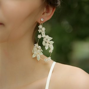 Tiny White Flower Bridal Hair Wreath Vine Pearls Women Jewelry Hand wired Wedding Prom Hair Tiara Headband Accessories J0113
