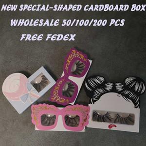 New Lollipop Special-Shaped Cardboard Box Eyelash Packaging Box Wholesale Lashes Boxes Empty Eyelash Package Boxes Free Fedex