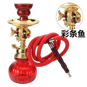 Cross border factory for Arabian hookah spot small alloy iron, hookah pot, paste and cigarette set delivery clip