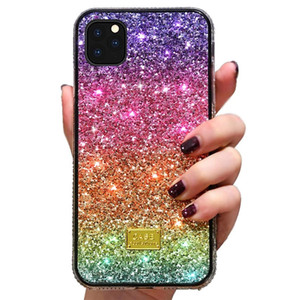 Luxury Bling Glitter Phone Case for iPhone 12 11 Pro MAX XR X XS 8Plus Samsung Galaxy S10 S20 Rainbow Gradient Protective Cover