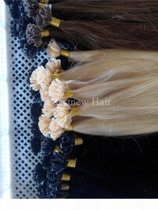 "LUMMY Prebonded Keratin Nail Tip U tip Fusion Indian Remy Human Hair Extensions 16""18""20""22""24"" 1g s 100 s pcs"