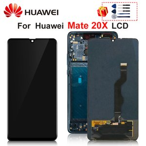 """7.2"""" Original For Huawei Mate 20X LCD 20 X Display Touch Screen Digitizer Replacement Parts With Frame"""