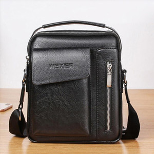Mens Bag Shoulder Leather Crossbody Men Vintage Solid color bags Designer Man Bag Crossbody Bags Zipper Handbags