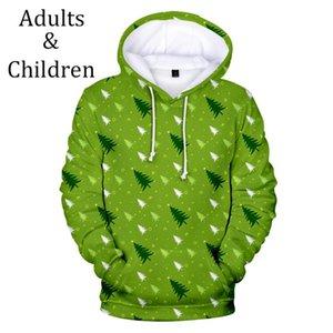 Hot sale Christmas Casual Comfortable Christmas Children Hoodies kids 3D boys girls Men women 3D Hooded pullovers Autumn tops