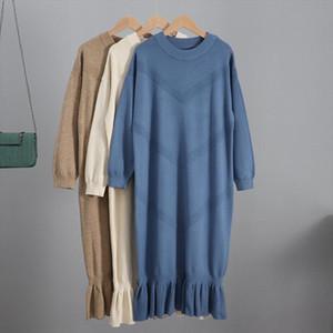 Oversized Long Knit Women Maxi Sweater Dress Autumn Winter Pullover Straight Dresses Casual Highstreet Midi Dress