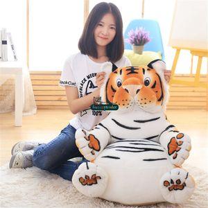 Cartoon X Dorimytrader 60cm Tiger 60cm Anime Chair Cushion Soft Stuffed Mini Kids Sofa Baby Doll Gift Animal Toy Plush Lovely Duck DY61 Jgpw