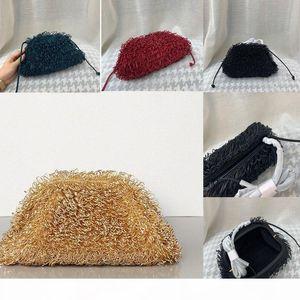 Designer- The sponge Leather Envelope Bag Shoulder Bags Women Designer Voluminous Round Shape Purses and Handbags Dumpling Cloud pack