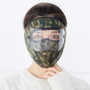 Free Shipping Outdoor windproof cycling face masks double-layer polar fleece mask winter warm and cold cycling goggles face masks Q0903
