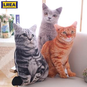 Lrea nouvelle 50cm cojines peluche jouet mignon expression simulation chat oreiller chambre sofa décorations coussin y200723
