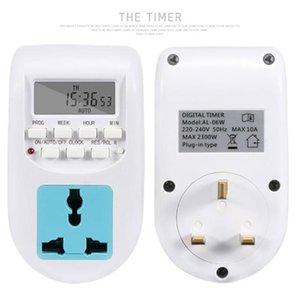 Timer Socket Цифровой таймер Переключатель Универсальный сокет 7 дней Еженедельное программируемое ЖК-дисплей Дисплей Время электропитания Реле переключения