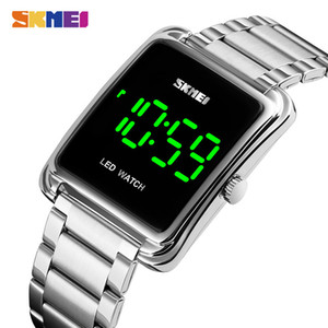 SKMEI LED Display Men Digital Wrist Watches Top Brand Luxury Stainless Steel Waterproof Male Clock Relogio Masculino 1505 201130