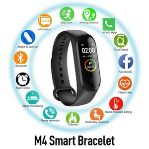 M4 Smart Watch Smartband Sport Fitness Tracker Smart Wristbands Blood Pressure Real Heart Rate Monitor Waterproof Smartwatch VS M3 115plus