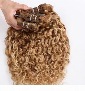 Remy Hair--Water wave Hair Bundle 100% Human Hair weaving Free Tangle&Shedding 100g pc & 3 pcs lot Free DHL