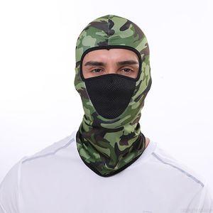 Gargame Motorcycle Motorbike montando Camuflagetactical Face Shield Balaclava Hunting Cap Moto Cycling Mask