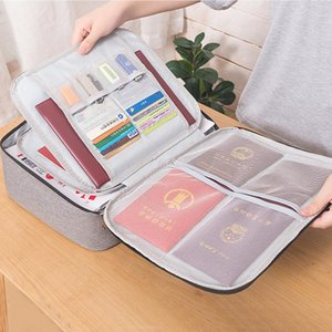 Large Capacity Document Organizer Bag Waterproof Briefcases Portable Office Travel File Card Storage Business Pouch Holder