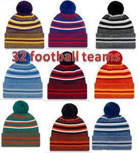 2021 Nouvelle Arrivée Sideline Bonnets Chapeaux American Football 32 Équipes Sports Hiver Side Line Knit Caps Bonnet Chapeaux tricotés