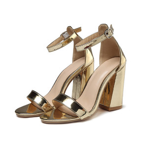 2021 New arrival Women Sandals Tribute Gold Platform Sandals Stiletto High Heel Shoes 11cm T-strap High Heels Sandals with Box 42 free shipp