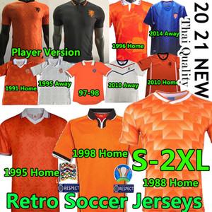 20 21 Hollanda Oyuncu Futbol Formaları Retro Klasik 1988 Van Basten Gullit Rijkaard 95 96 97 98 Hollanda Bergkamp Davids Futbol Üniformaları