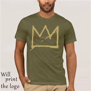 Basquiat taç jean michel erkek t shirt T200708
