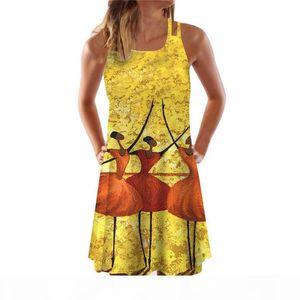 Womens 3D Spaghetti Srtap Dresses Short Desinger Summer Plus Size Clothing For Female Beach Sexy Style Dresses