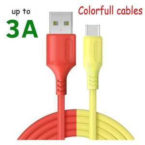 New Soft Silicone Type 3A Micro Cable Android Tablet USB C Fast Charge Mobile Phone Data Cord Wire for S8 S9 NOTE 10