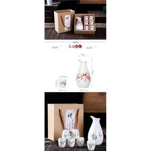 SAKE SAKE SAKE, 6 шт. Сайк набор ручной росписью дизайн фарфоровой керамики традиционные керамические чашки ремесел винные очки SQCOFG