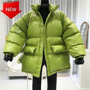 Otton فضفاض سترة الإناث معطف السيدات مع حزام الشتاء معطف المرأة ستر الدافئة أسفل قميص chaqueta1
