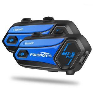 FODSPORTS Music Sharing M1s Plus Мотоциклетный шлем Домофон для 8 всадников Беспроводная Bluetooth гарнитура Intercomunicador Speakers1