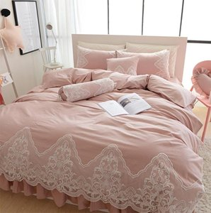 Rustic floral single double cotton bedding set,twin full queen king pink purple home textile bed dress duvet cover pillow case