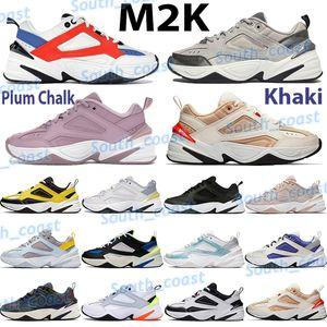 أحذية رجالية مكتنزة أحذية M2K Tekno أزياء أبي أبي المدربين الجو رمادي أسود البلاتين تينت بارد أبيض أزرق كاكي برقوق الطباشير أحذية
