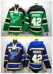 2016 NOUVEAU, 2014 bon marché ST. Louis Blues Sweat à capuche 42 David Backs Sweats Hockey Jersey pour hommeSweatshirts avec taille: m-xxl