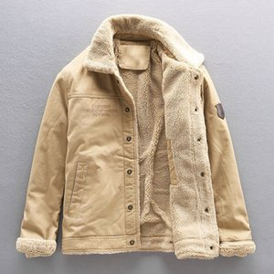 2019 Winter New Faux Shearling Men's Casual Warm Jacket Thicken Fleece Coat Big Size 4XL 5XL 44OG