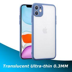 Funda de protección de cámara TPU transparente ultra delgada mate para iPhone 12 Mini 11 Pro Max XR XS X 6 7 8 PLUS 5G