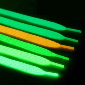 2020 1 Pair Luminous Shoelaces Flat Sneakers Canvas Shoe Laces Glow In The Dark Night Color Fluorescent Shoelace 80 100 120 140cm