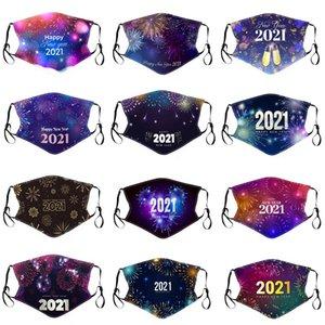 2021 Специальный год Печатные хлопковые маски Зимняя Теплая и пылезащитная Маска лица Моющаяся Взрослая Ткань Факс