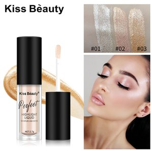Makeup Brand New&Hot High quality Liquid Highlighter 3colors Long-lasting Bronzer Moisture and Shine Kiss Beauty