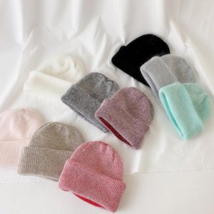 New Candy Colors Winter Hat Women Knitted Hat Warm Soft Trendy Kpop Style Hair Beanie Elegant All-match