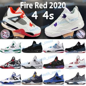 Fuego rojo 2020 4 4s zapatos de baloncesto para hombre gato negro criado lo que los zapatillas de deporte de deportes púrpura púrpura púrpura púrpura púrpura pino
