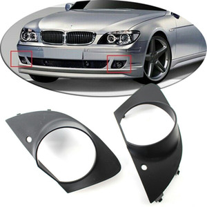 2PCS Ön Tampon Sis Işık Grille Kapak Trim BMW E65 E66 750i 760Li 2006-2008 için uygun