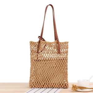Realer Shoulder Rope Bags Summer Luxury For Woven Beach Bag Women Large Totes Travel Handbag Bohemia Designer Cotton Rmptl