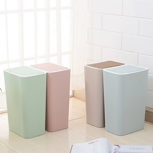 Küchen Mülleimer Recycling Bin Cubo Basura Reciclaje Cube Müll Recycling Wohnzimmer Abfall Drücken Sie den Cover Mülleimer Y200429