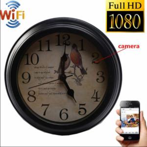 2020 Nuevo Nuevo Hot Time Clock 1080p WiFi HD Seguridad de la red Ama de ama de ama de llaves y Cámara de Niñera Cámara inalámbrica