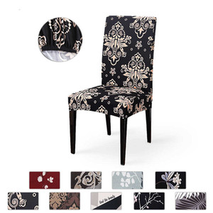 Modern universal printed dining anti-fouling chair cover suitable for restaurant kitchen banquet hotel office