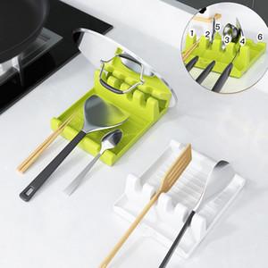 Porte-cuillère en plastique Cuisine ménagère Cuillère Couverture Pelle Couverture Vaisselle Couverture de stockage Multifonctionnel Cuisine Boîte de rangement GWF4843