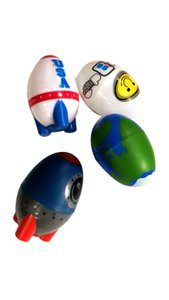 Hot selling creative children's space eggs, interesting toy models, space patterns, egg shape crafts, 12 packs