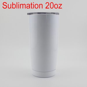 Sea Shipping 20oz White Insulated Sublimation Tumbler 20oz Large Capacity Beer Coffee Mug Drinking Water Tumbler