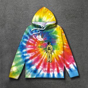 Hoodie Krawatte Färbende Astronaut Logo Hoodies 2019 Männer Frauen Pullover Sweatshirts