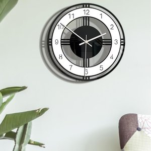 Nordic Style Fashionable Simple Silent Wall Clocks for Home Decor Black White Type Wall Clock Quartz Modern Design Timer#G7