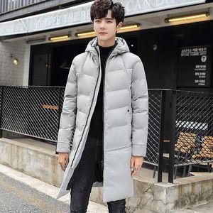 Boutique jacket men's 2020 new winter coat thickened warm medium length cotton padded jacket men's Korean cotton padded