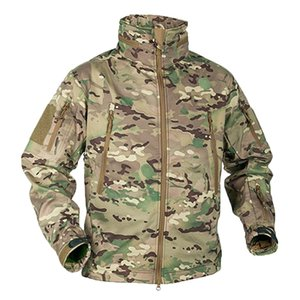 Winter Military Fleece Jacket Men Soft shell Tactical Waterproof Army Camouflage Coat Airsoft Clothing Multicam Windbreakers 201123